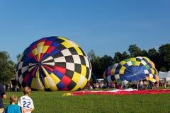 METAMORA, MICHIGAN - 24 DE AGOSTO DE 2013: Aire caliente Ballo Fotos de archivo libres de regalías