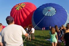 METAMORA, MICHIGAN - 24 DE AGOSTO DE 2013: Aire caliente Ballo Imagen de archivo libre de regalías
