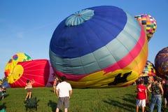 METAMORA, MICHIGAN - 24 DE AGOSTO DE 2013: Aire caliente Ballo Foto de archivo libre de regalías