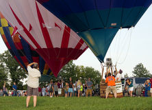 METAMORA, MICHIGAN - 24 DE AGOSTO DE 2013: Festival del globo del aire caliente Imagen de archivo
