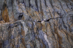 Metamorphic rocks layers Royalty Free Stock Images