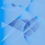 Metamorphose. Light blue lines on the dark blue background Stock Photos