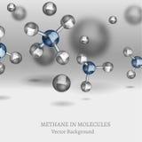 Metangasmolekylbild royaltyfri illustrationer