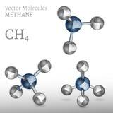 Metangasmolekyluppsättning stock illustrationer