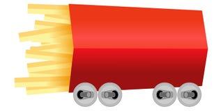 Metapfor do carro de competência das batatas fritas ilustração do vetor