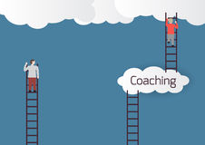 Metaphor about coaching. Vector illustration Stock Images
