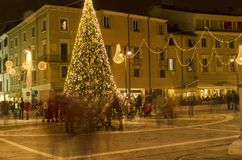 Metaphor of hectic life in Christmas period. Rimini, Italy - December 04, 2016: Metaphor of hectic life in Christmas period Royalty Free Stock Photo