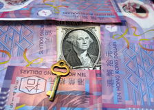 Metaphor of Hong Kong's pegged forex rule Stock Photography