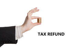 Metaphor for the payment of tax refund Stock Images