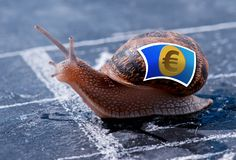 Metaphor success of the euro currency Stock Photography