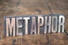 Metaphor word wood Royalty Free Stock Photos