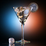 Metaphoric Business Cocktail Created Out Of Euro Coins. Metaphoric Business Cocktail Created Out Of Euro Coin Stock Photography