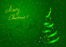 Metaphoric green Christmas tree Royalty Free Stock Photo