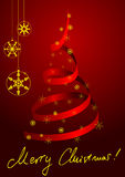 Metaphoric red Christmas tree Royalty Free Stock Images