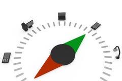 Metaphorical compass Stock Image
