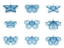 Metaphorical Fractal Butterflies Stock Images