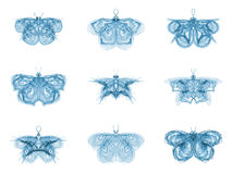 Metaphorical Fractal Butterflies Royalty Free Stock Photos