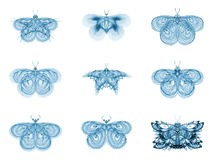 Metaphorical Fractal Butterflies Royalty Free Stock Photo