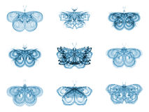 Metaphorical Fractal Butterflies Royalty Free Stock Image