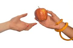 Metaphor of the symbolism of Adam and Eve 002. Metaphorical image of the symbolism of Adam and Eve 002 Stock Photography