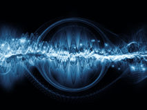 Metaphorical Light Wave Royalty Free Stock Images
