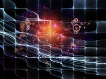 Metaphorisches Partikel-Gitter Stockfotografie