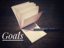 metas Fotos de archivo libres de regalías