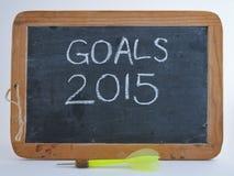 Metas 2015 Imagen de archivo libre de regalías