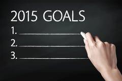 2015 metas Imágenes de archivo libres de regalías