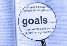 metas Foto de archivo libre de regalías