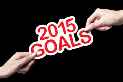 2015 metas Imagenes de archivo