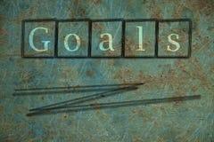 metas Fotografía de archivo