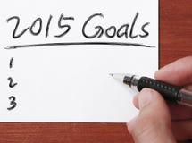 2015 metas Fotografía de archivo libre de regalías