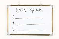 2015 metas Fotografía de archivo