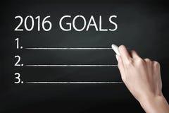 2016 metas Imagen de archivo libre de regalías