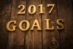 2017 metas Imagen de archivo libre de regalías