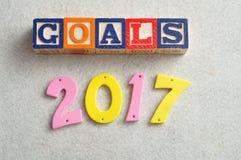Metas 2017 Imagen de archivo libre de regalías