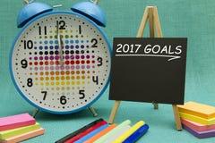 2017 metas Fotografía de archivo libre de regalías