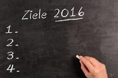 Metas alemanas 2016 del concepto Fotografía de archivo libre de regalías