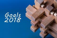 Metas 2018 - blancos, meta, sueños y promesas del ` s del Año Nuevo para el próximo año Fotografía de archivo