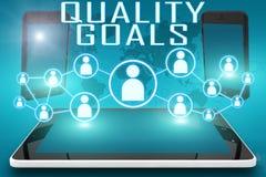 Metas de la calidad stock de ilustración