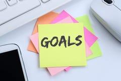Metas de la meta a las aspiraciones y al concepto del éxito del negocio del crecimiento imagenes de archivo