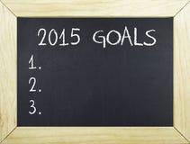 2015 metas de las resoluciones por Año Nuevo Imagen de archivo libre de regalías