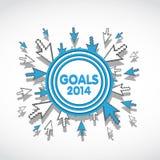 2014 metas de negocio de la blanco Imagenes de archivo