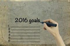 Metas de negocio en 2016 Imagenes de archivo