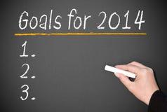 Metas de negocio para 2014 Imágenes de archivo libres de regalías