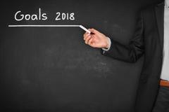 Metas de negocio para 2018 Fotos de archivo libres de regalías