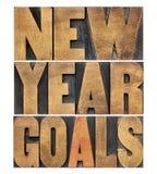 Metas del Año Nuevo Imagen de archivo libre de regalías