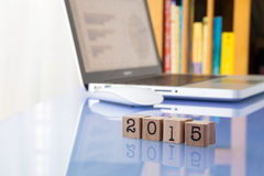 2015 metas del Año Nuevo para el trabajo Foto de archivo libre de regalías