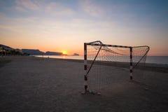 Metas del fútbol de la playa Fotos de archivo libres de regalías